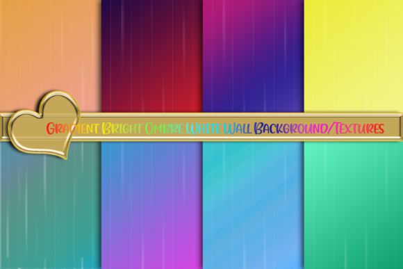 Print on Demand: Rainbow Gradient White Wall Texture Graphic Backgrounds By AM Digital Designs