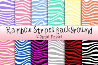 Rainbow Stripes Background Graphic Backgrounds By PinkPearly