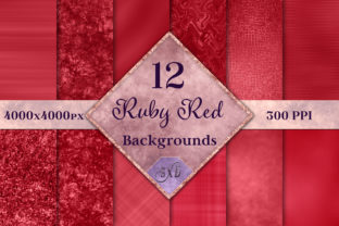 Print on Demand: Ruby Red Backgrounds - 12 Image Set Graphic Backgrounds By SapphireXDesigns