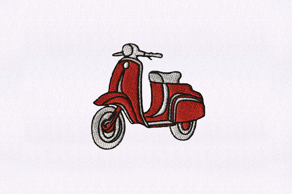 Scooter Transportation Embroidery Design By DigitEMB