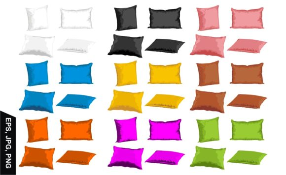 Print on Demand: Set of Vector Pillows with Various Color Graphic Crafts By Arief Sapta Adjie