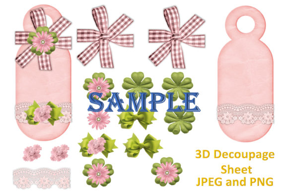 Print on Demand: Shabby Chic Clipart and Decoupage Bundle Graphic Illustrations By The Paper Princess - Image 3