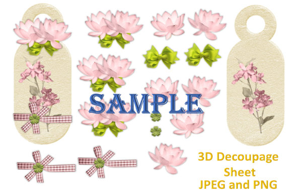 Print on Demand: Shabby Chic Clipart and Decoupage Bundle Graphic Illustrations By The Paper Princess - Image 4