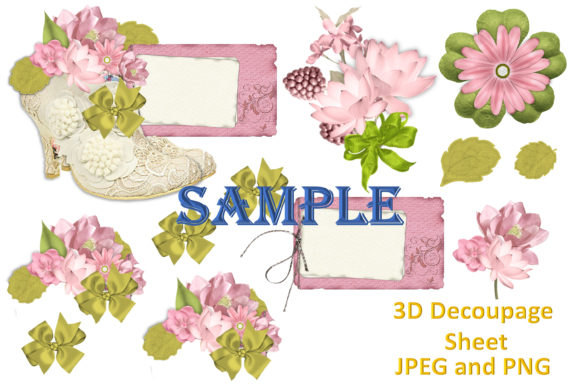 Print on Demand: Shabby Chic Clipart and Decoupage Bundle Graphic Illustrations By The Paper Princess - Image 5