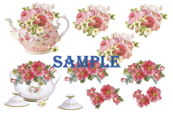 Print on Demand: Shabby Chic Clipart and Decoupage Bundle Graphic Illustrations By The Paper Princess - Image 6