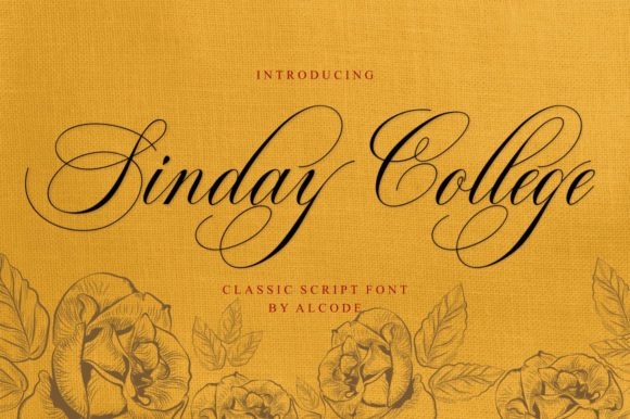 Print on Demand: Sinday College Script & Handwritten Font By alcode