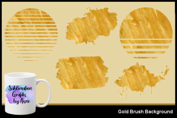 Download Free Sublimation Gold Brush Background Graphic By Aisne Creative for Cricut Explore, Silhouette and other cutting machines.