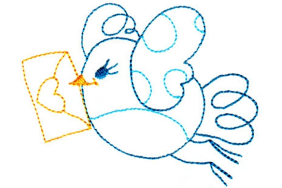 Sweet Tweets Birds Embroidery Design By Sue O'Very Designs - Image 1