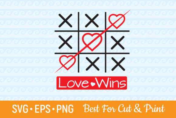 Download Free Tic Tac Toe Love Winning Valentine Graphic By Olimpdesign for Cricut Explore, Silhouette and other cutting machines.
