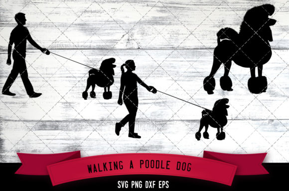 Download Free Walking A Poodle Dog Silhouette Vector Graphic By for Cricut Explore, Silhouette and other cutting machines.
