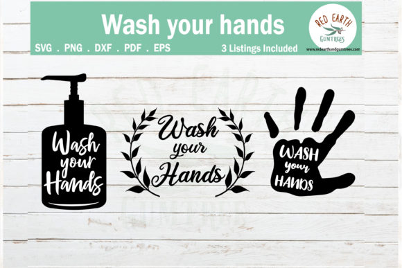 Wash Your Hands Sign Making Gráfico Crafts Por redearth and gumtrees