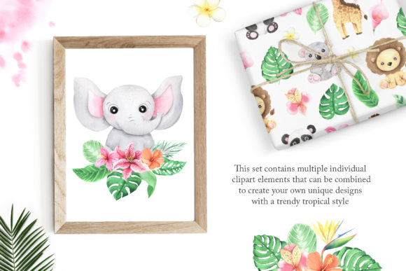 Watercolor Tropical Babies Set 1 Graphic Illustrations By Larysa Zabrotskaya - Image 3