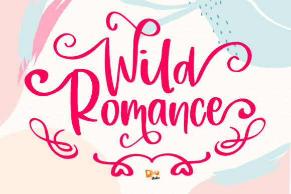 Print on Demand: Wild Romance Script & Handwritten Font By dmletter31