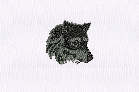 Wolf Face Wild Animals Embroidery Design By DigitEMB