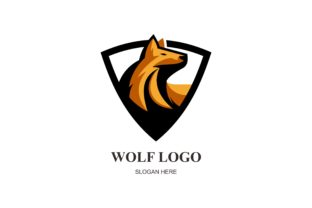 Download Free Wolf Logo Template Vector Icon Graphic By Deemka Studio for Cricut Explore, Silhouette and other cutting machines.