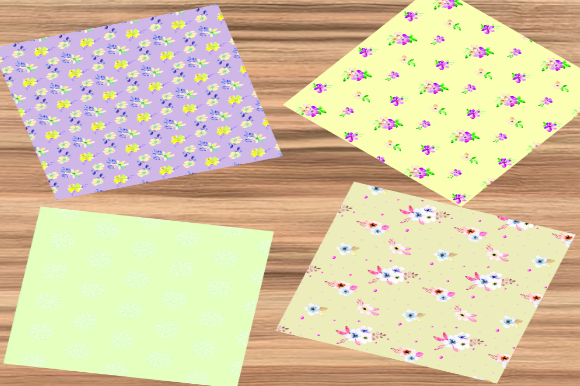 Download Free Yellow Springtime Flowers Digital Paper Graphic By Josephine S for Cricut Explore, Silhouette and other cutting machines.