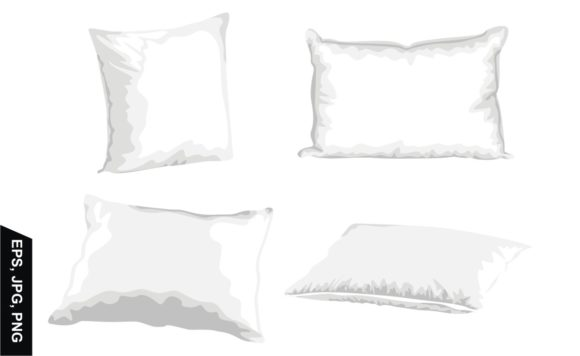 Print on Demand: Blank Vector Pillow with White Graphic Crafts By Arief Sapta Adjie