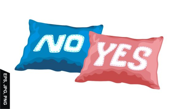 Download Free Vector Pillow With Yes And No Design Graphic By Arsa Adjie SVG Cut Files