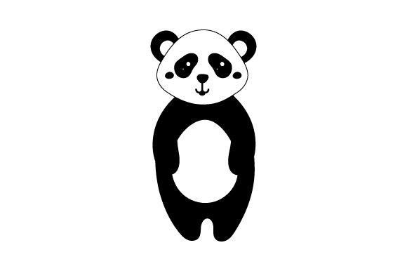 Download Free Panda Cute Kawaii Style Svg Cut File By Creative Fabrica for Cricut Explore, Silhouette and other cutting machines.
