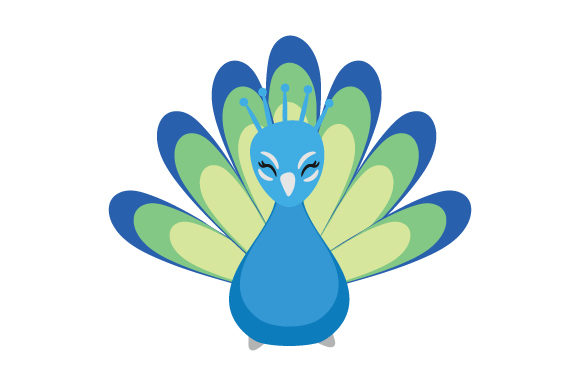 Download Free Peacock Cute Kawaii Style Svg Cut File By Creative Fabrica for Cricut Explore, Silhouette and other cutting machines.