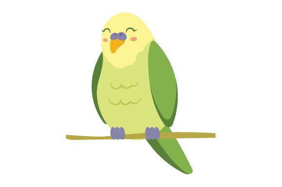 Download Free Parrot Cute Kawaii Style Svg Cut File By Creative Fabrica for Cricut Explore, Silhouette and other cutting machines.