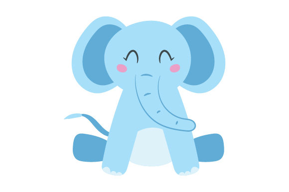 Download Free Elephant Cute Kawaii Style Svg Cut File By Creative Fabrica for Cricut Explore, Silhouette and other cutting machines.