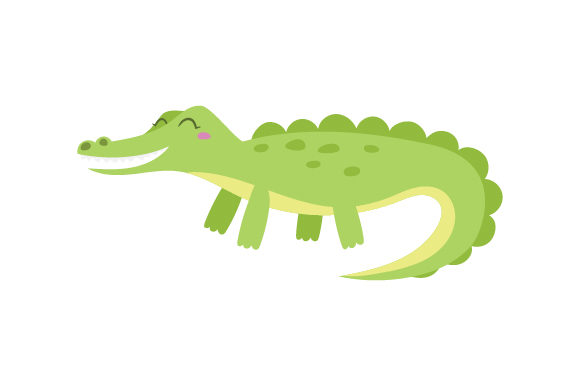 Alligator (cute Kawaii Style) Animales Archivo de Corte Craft Por Creative Fabrica Crafts