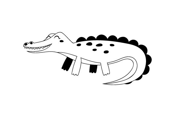 Download Free Alligator Cute Kawaii Style Svg Cut File By Creative Fabrica Crafts Creative Fabrica for Cricut Explore, Silhouette and other cutting machines.