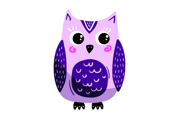Purple Owl Animals Craft Cut File By Creative Fabrica Crafts