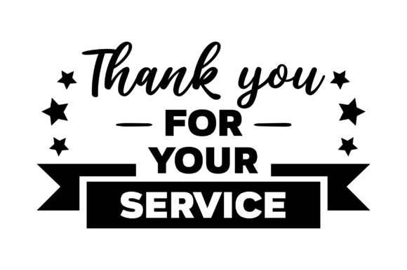 Thank You for Your Service Military Craft Cut File By Creative Fabrica Crafts - Image 1