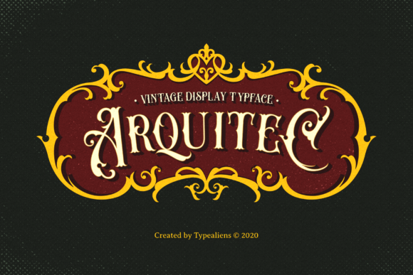 Print on Demand: Arquitec Display Font By typealiens