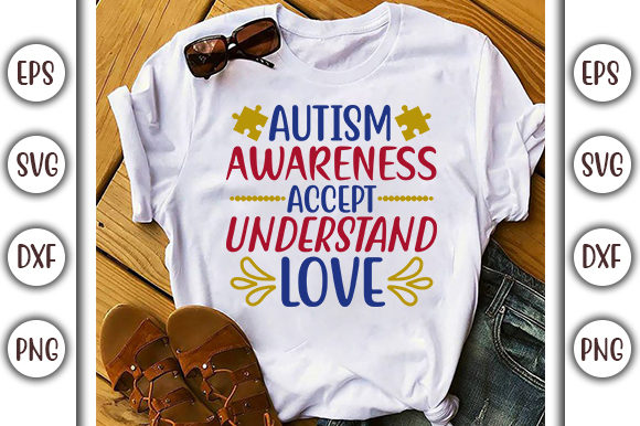 Download Free Autism Awareness Autism Design Graphic By Graphicsbooth for Cricut Explore, Silhouette and other cutting machines.