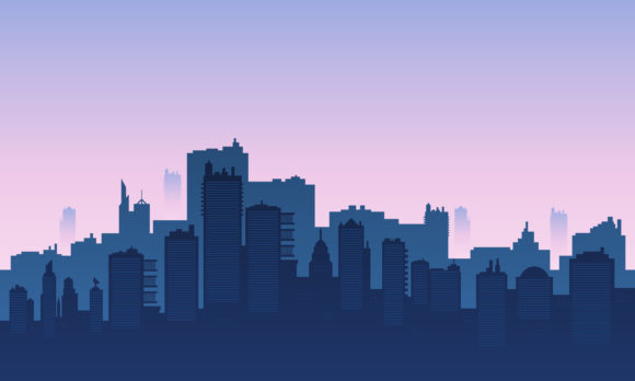 Download Free Background Of A City In The Morning Graphic By Cityvector91 for Cricut Explore, Silhouette and other cutting machines.