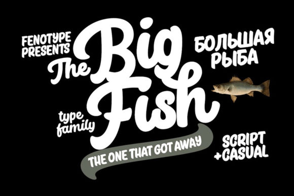 Print on Demand: Big Fish Script & Handwritten Font By fenotypefonts