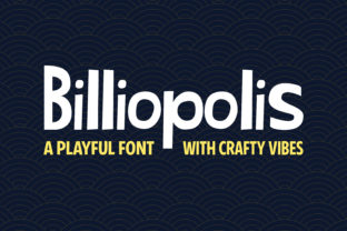 Print on Demand: Billiopolis Display Font By SeventhHeaven Studios