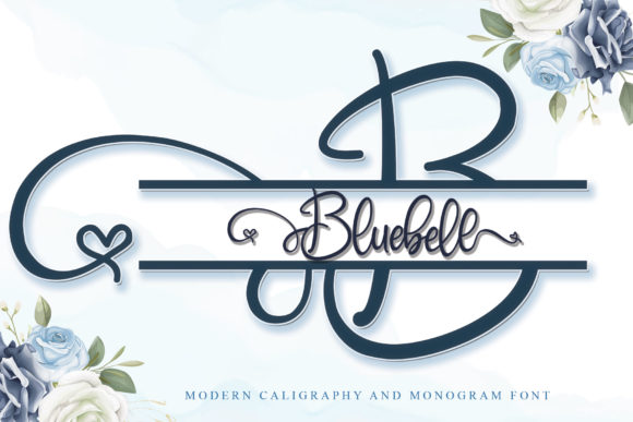 Print on Demand: Bluebell Script & Handwritten Font By thomasaradea