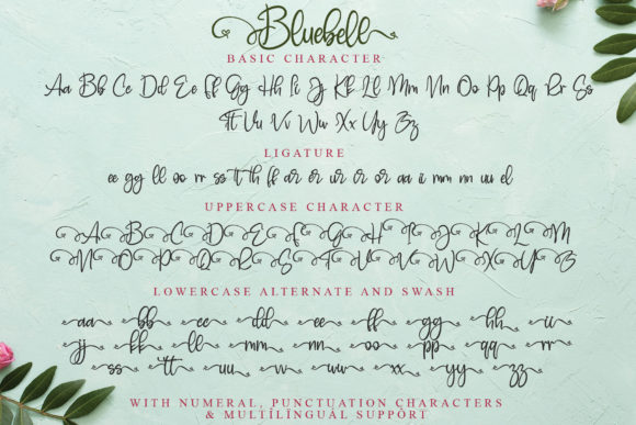 Print on Demand: Bluebell Script & Handwritten Font By thomasaradea - Image 12