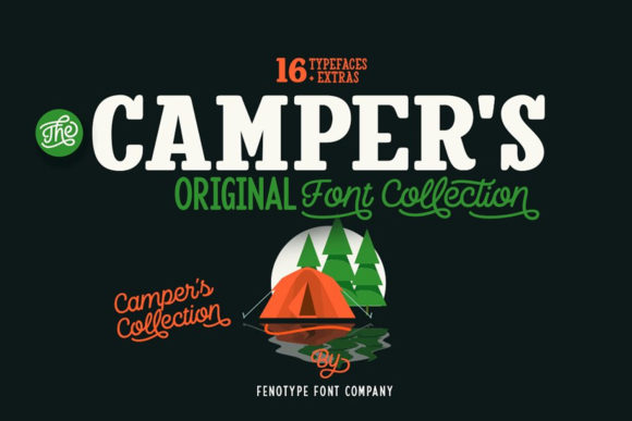 Print on Demand: Camper's Script & Handwritten Font By fenotypefonts