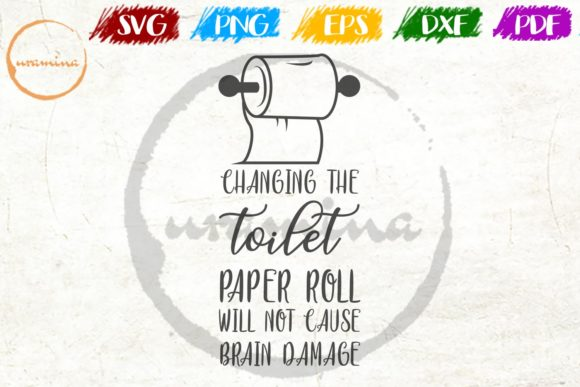 Download Free Changing Toilet Paper Roll Bathroom Graphic By Uramina for Cricut Explore, Silhouette and other cutting machines.