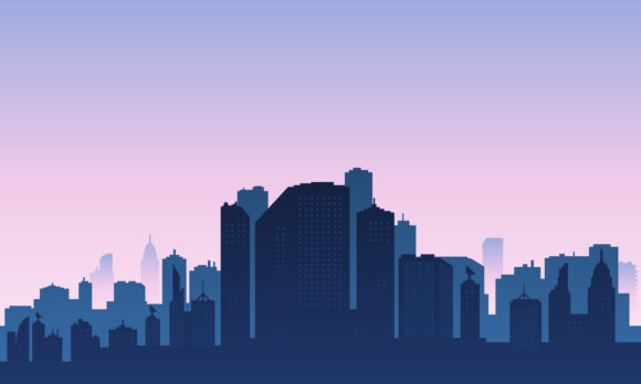 Download Free City Silhouette In The Afternoon Graphic By Cityvector91 for Cricut Explore, Silhouette and other cutting machines.