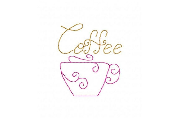 Coffee Cup Tea & Coffee Embroidery Design By Sue O'Very Designs