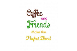 Coffee and Friends Tea & Coffee Embroidery Design By Sookie Sews