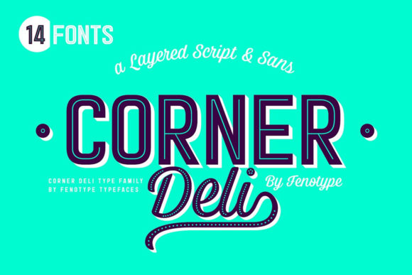 Print on Demand: Corner Deli Trio Script & Handwritten Font By fenotypefonts