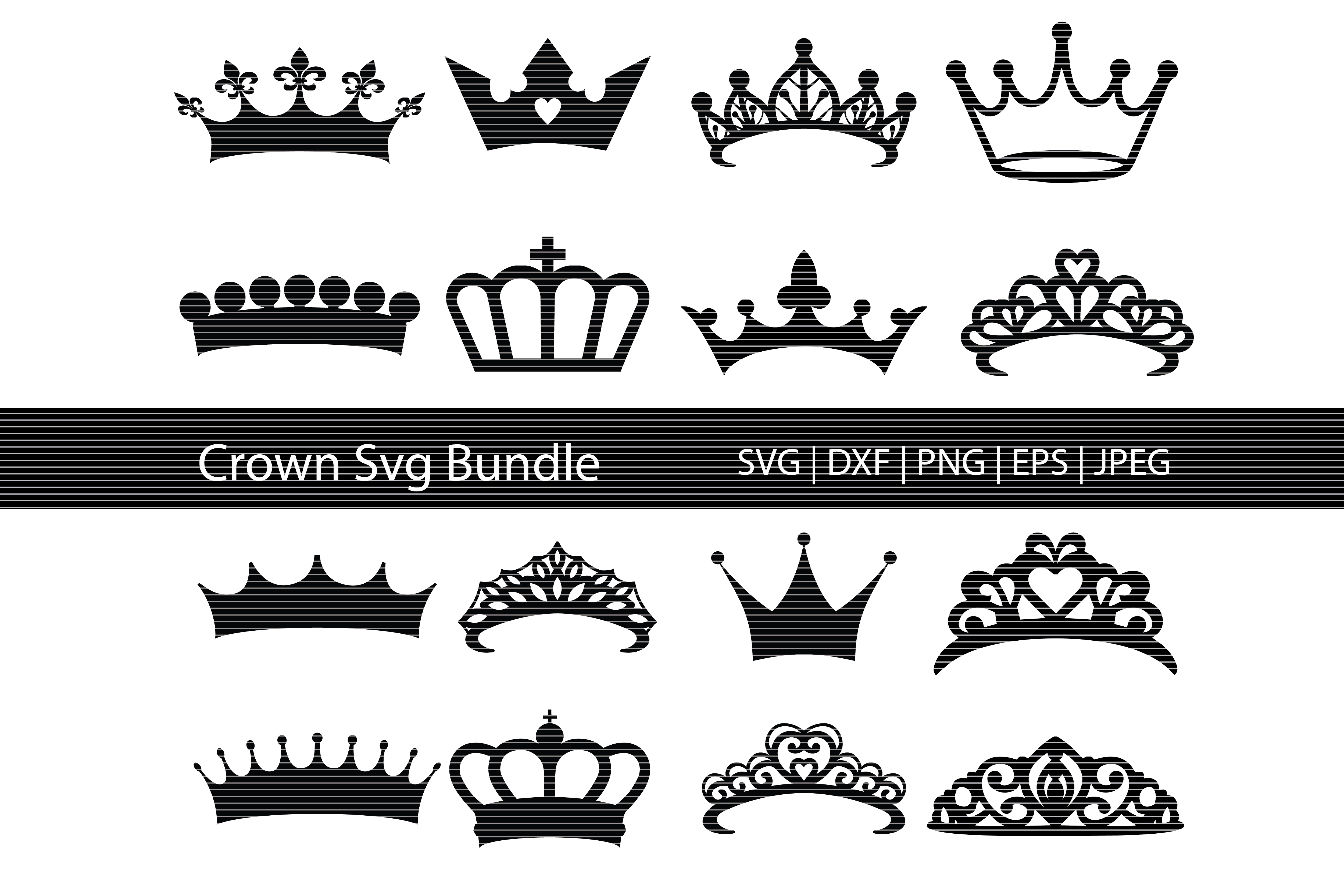 Crown Silhouette Bundle Graphic By Meshaarts Creative Fabrica