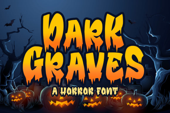 Print on Demand: Dark Graves Display Font By Blankids Studio - Image 1