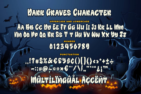 Print on Demand: Dark Graves Display Font By Blankids Studio - Image 7