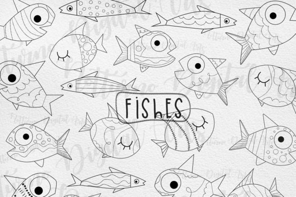 Download Fish Clipart Black and White