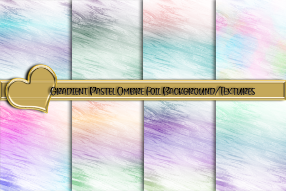 Gradient Ombre Pastel Foil Backgrounds Grafik Hintegründe von AM Digital Designs