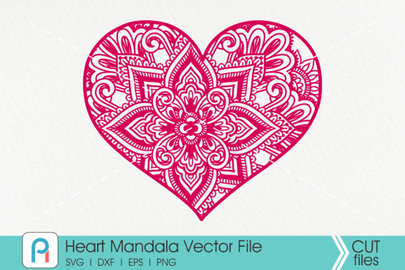 Heart Mandala  Graphic Crafts By Pinoyartkreatib