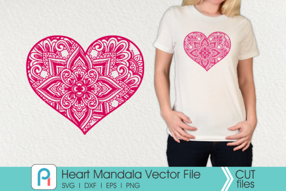 Download Free Heart Mandala Graphic By Pinoyartkreatib Creative Fabrica for Cricut Explore, Silhouette and other cutting machines.